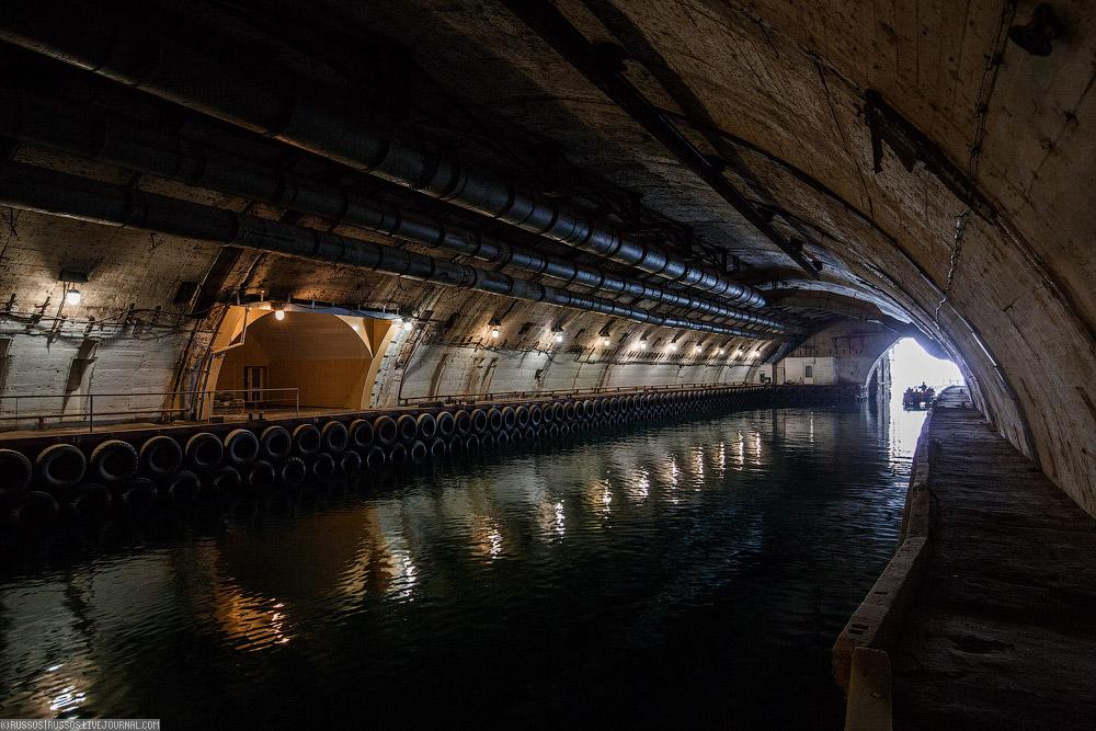 подземные базы подводных лодок